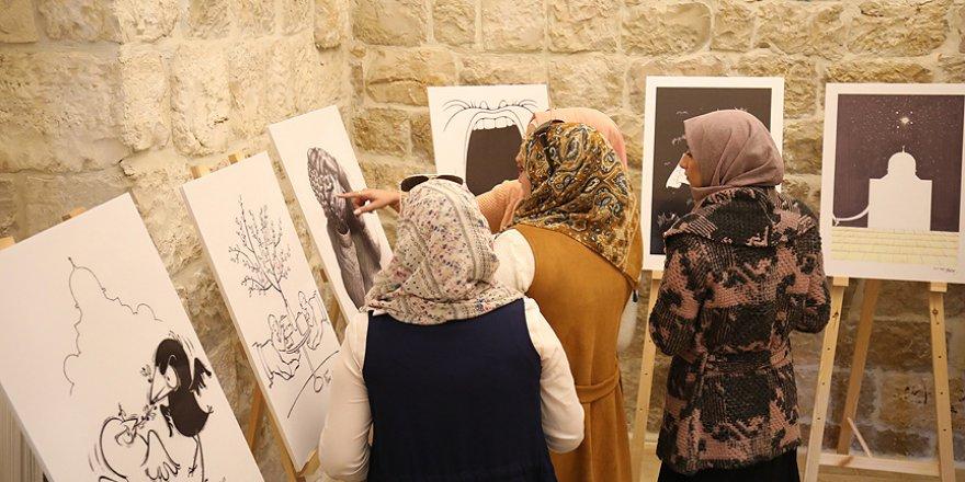 Yazar ve çizer Aycın'ın Kudüs çizgileri Filistinliler ile buluştu