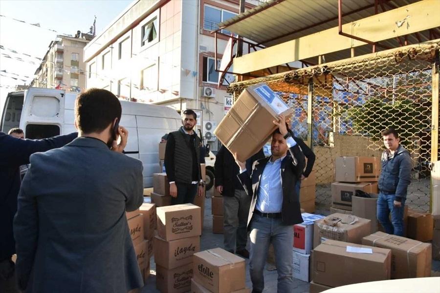 Hatay, Adana ve Mersin'den deprem bölgesine yardım malzemesi desteğ 1