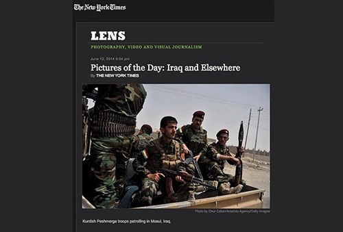 The New York Times'ta günün fotoğrafı AA'dan