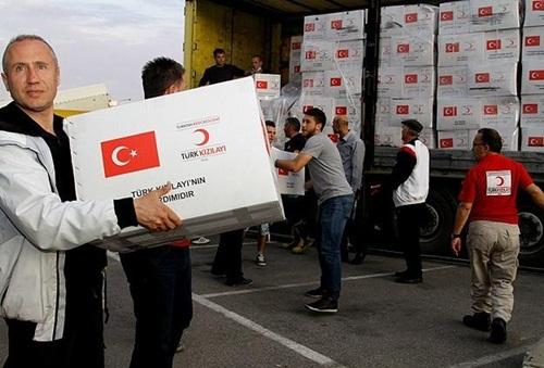Türk Kızılayı yardım tırları Sincar'a ulaştı