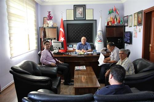 Karaisalı Kaymakamı Tunç'tan Saadettin Aslan'a İadeyi Ziyaret