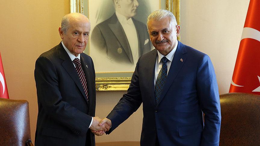 Başbakan Yıldırım, MHP Genel Başkanı Bahçeli'yi kabul edecek
