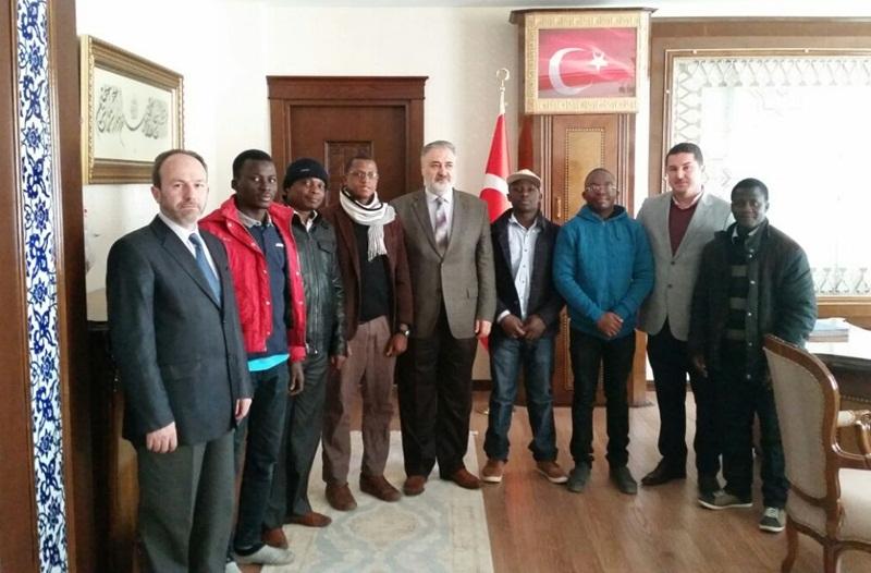 Çukurova Uluslararası Öğrenci Derneği'nden Müftü Çınar'a ziyaret