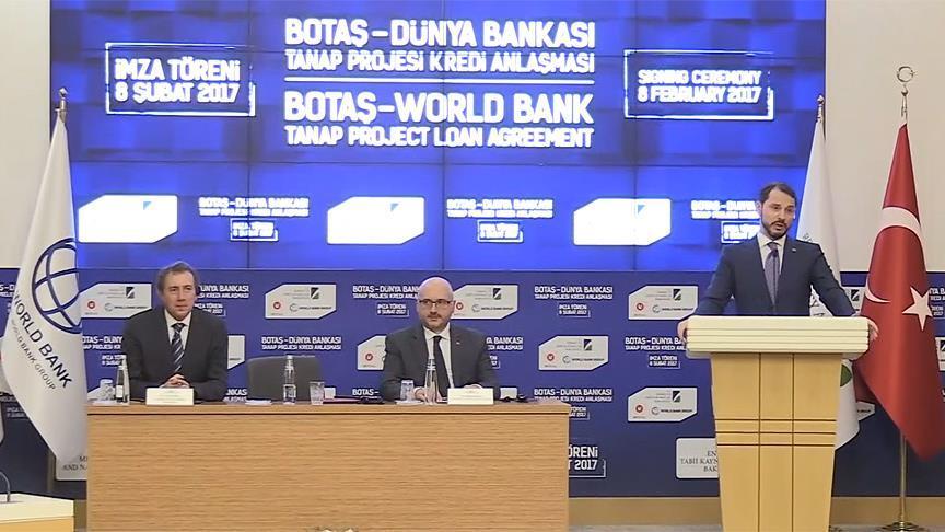 TANAP için 400 milyon dolarlık kredi anlaşması imzalandı