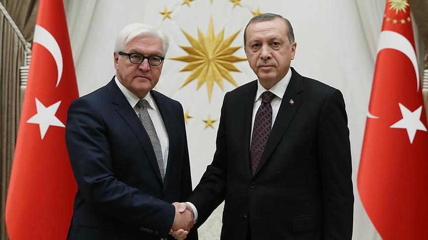 Steinmeier'den Erdoğan'a tebrik