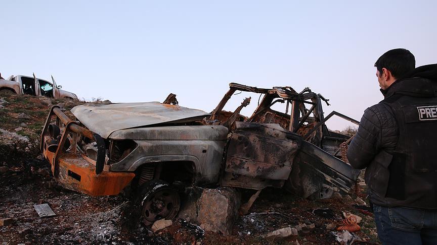 Afrin'de intihar saldırısı girişimi tank atışıyla engellendi