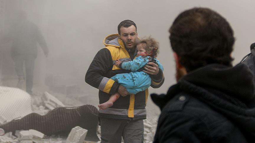 Esed rejimi Doğu Guta'da sivilleri hedef aldı: 58 ölü 45 yaralı