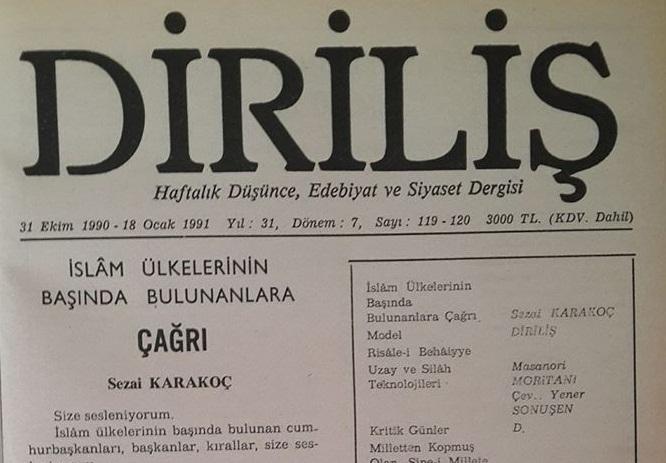 M.Ziya Sarı: Diriliş Dergisinde Siyasi Bir Portre / Turgut Özal