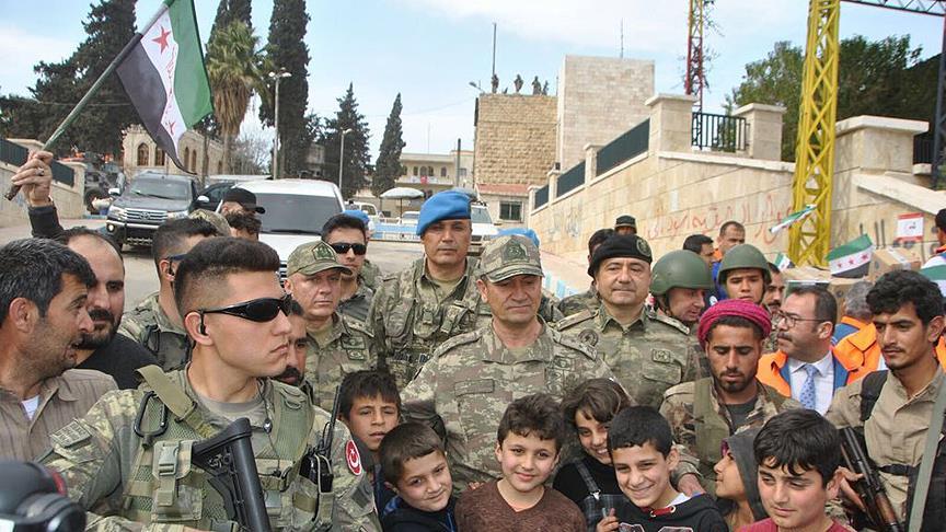 2. Ordu Komutanı Temel'den Afrin'de kardeşlik mesajı