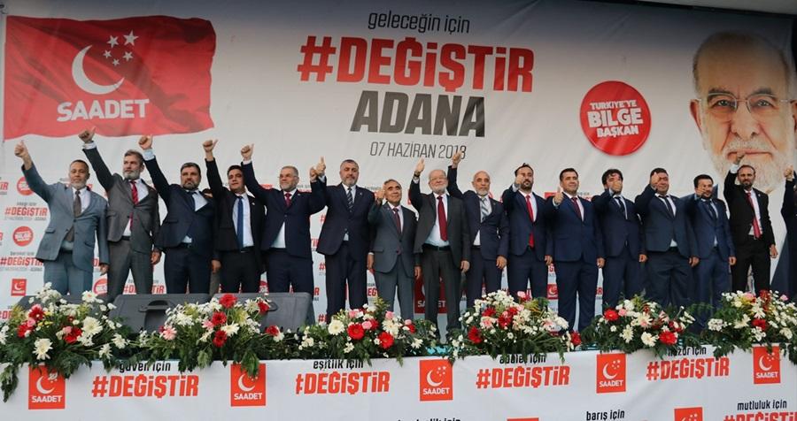 Saadet Partisi Adana mitingi