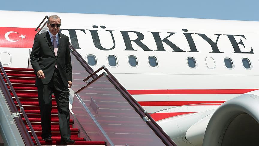 Cumhurbaşkanı Erdoğan 'Üçlü Zirve' için İran'da