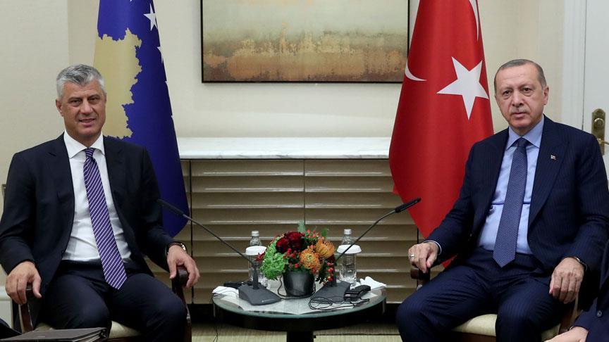 Cumhurbaşkanı Erdoğan, Kosovalı mevkidaşıyla görüştü