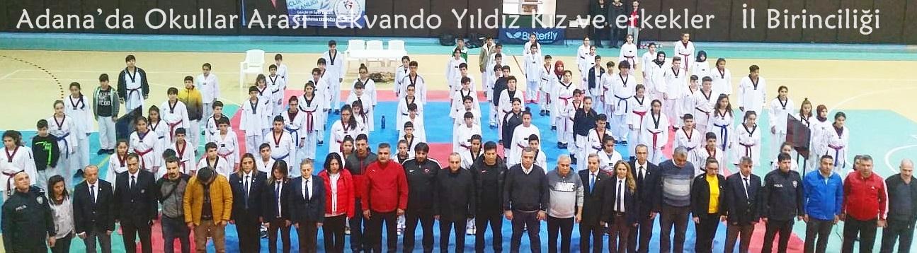 Adana'da Okullar Arası Tekvando Yıldız Kız ve erkekler İl Birinciliği Sona Erdi