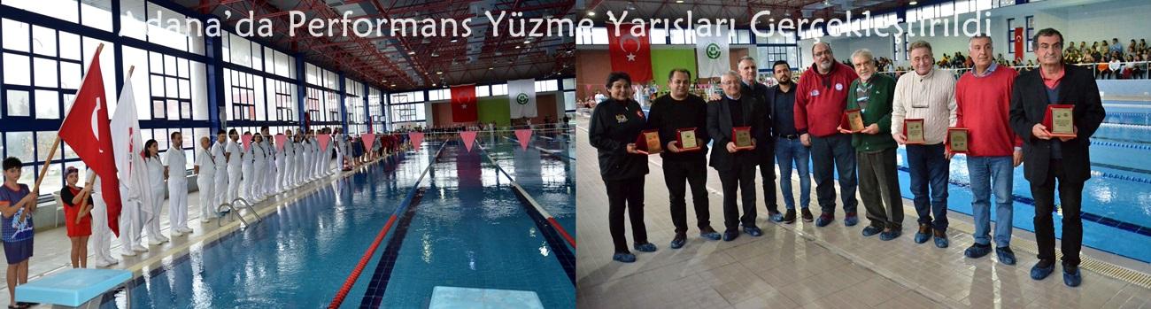 Adana'da Performans Yüzme Yarışları Gerçekleştirildi