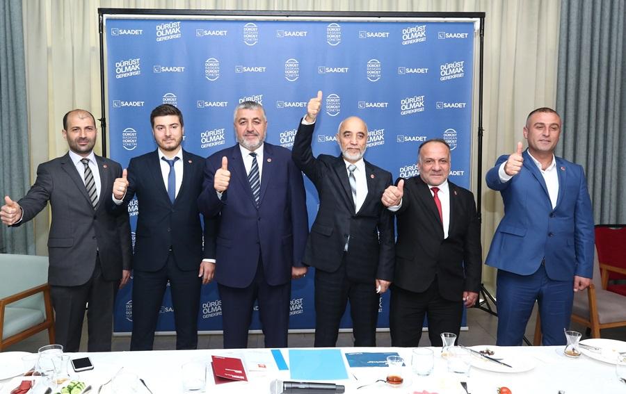 Saadet Partisi Adana belediye başkan adayları tanıtıldı