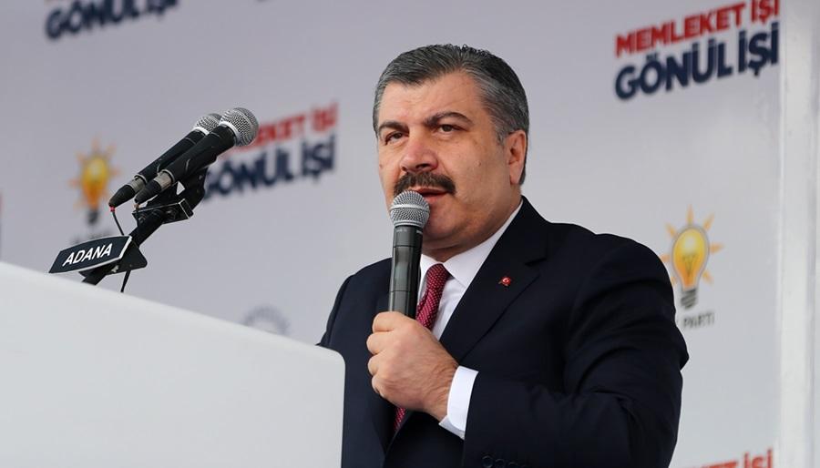 Sağlık Bakanı Koca Adana Mitingi'nde konuştu..