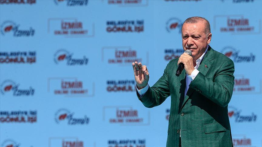 Erdoğan: Soyer adaylık icazetini İzmir'den değil Kandil'den almıştır