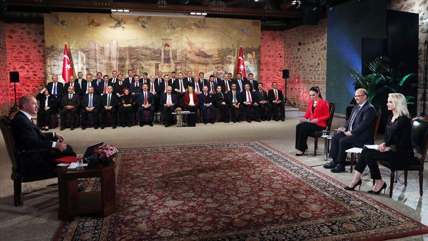 Erdoğan: Eserlerimiz için halkımızdan oy istiyoruz