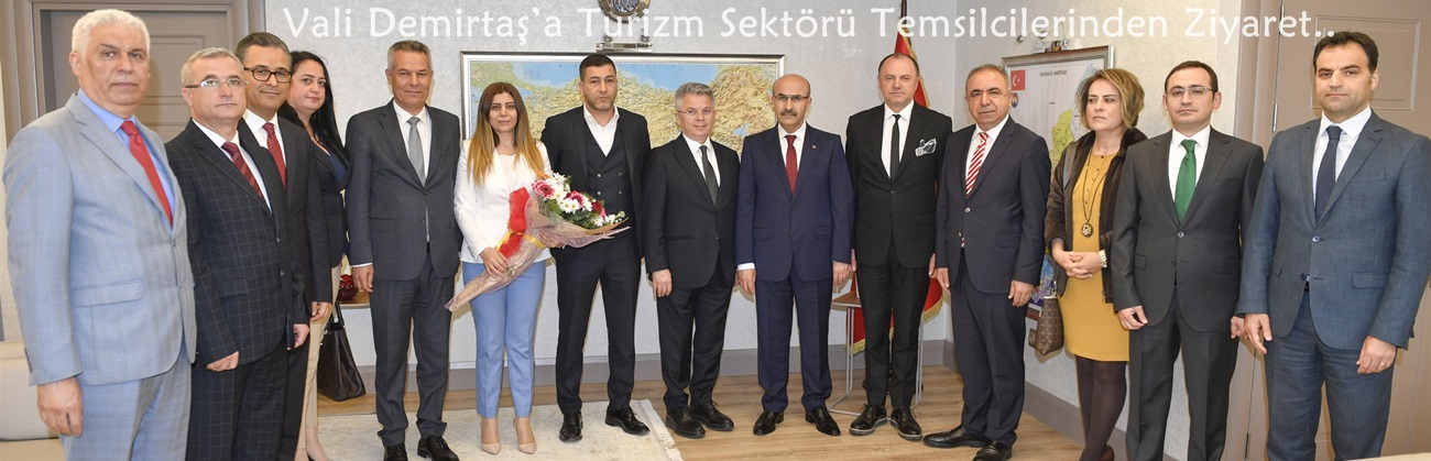 Vali Demirtaş'a Turizm Sektörü Temsilcilerinden Ziyaret