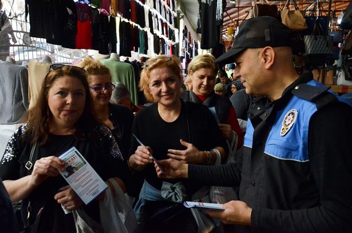 Polisten pazarda dolandırıcılık ve hırsızlık uyarısı