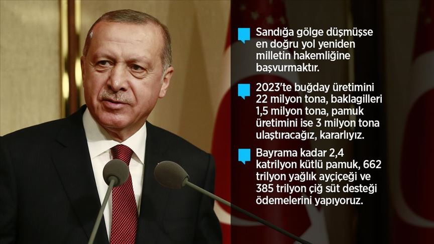 Erdoğan: Bu topraklardan darbe çıkmaz, bu topraklardan bereket çıkar