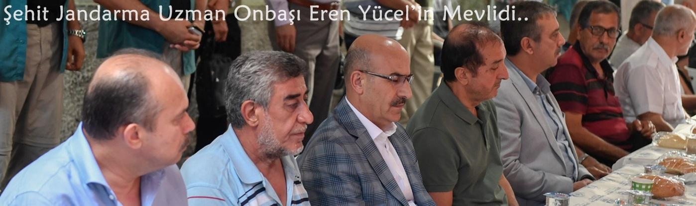 Vali Demirtaş Şehit Jandarma Uzman Onbaşı Eren Yücel'in Mevlidine Katıldı