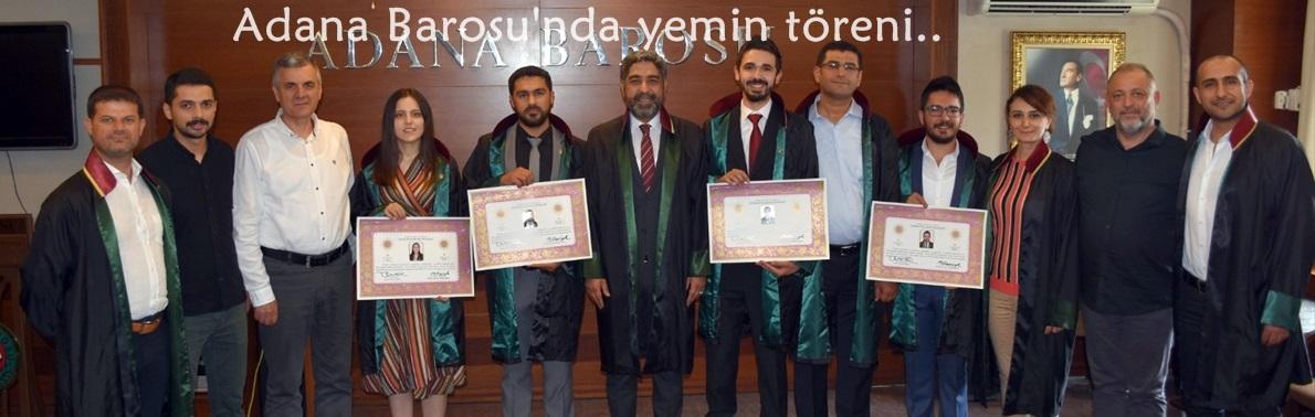 Adana Barosu'nda yemin töreni