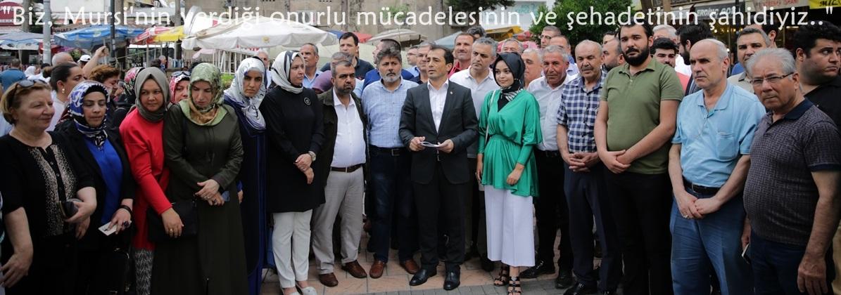 """""""Biz, Mursi'nin verdiği onurlu mücadelesinin ve şehadetinin şahidiyiz.."""""""