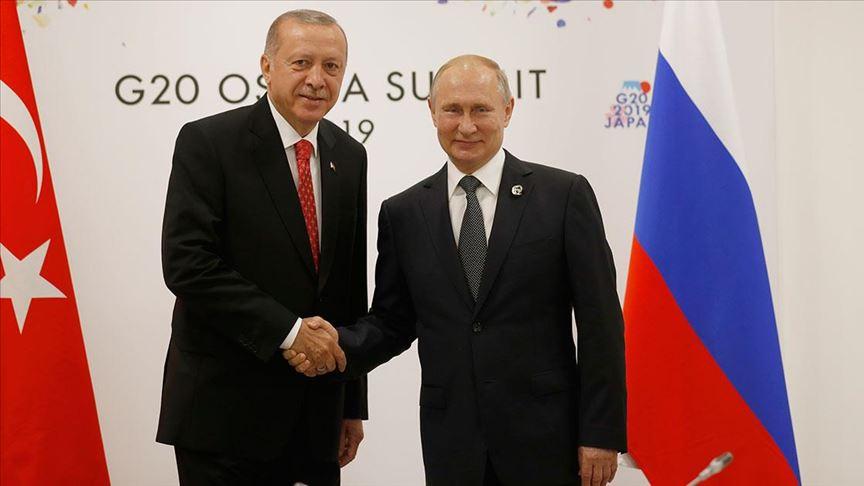 Erdoğan ile Putin telefonda Suriye ve Libya'daki gelişmeleri görüştü