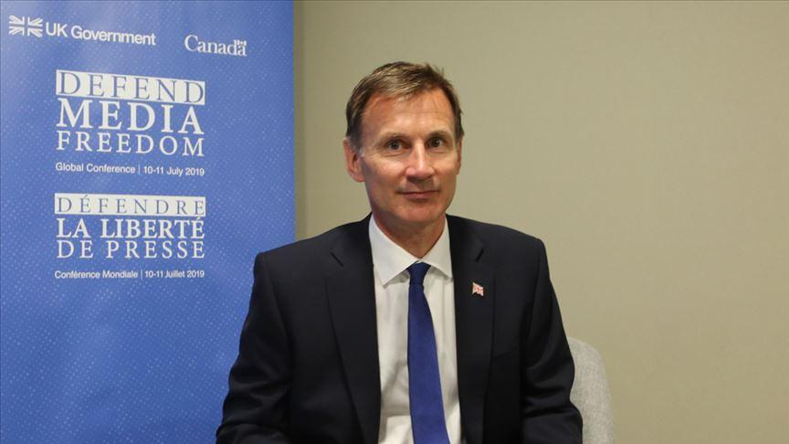 İngiltere Dışişleri Bakanı Jeremy Hunt AA'ya konuştu