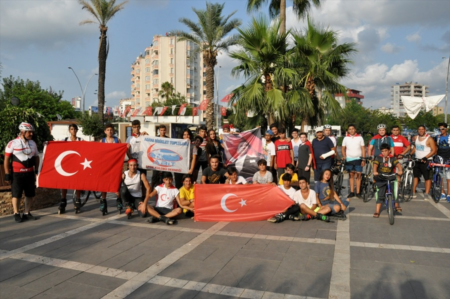 15 Temmuz şehitleri anısına bisiklet turu düzenlendi