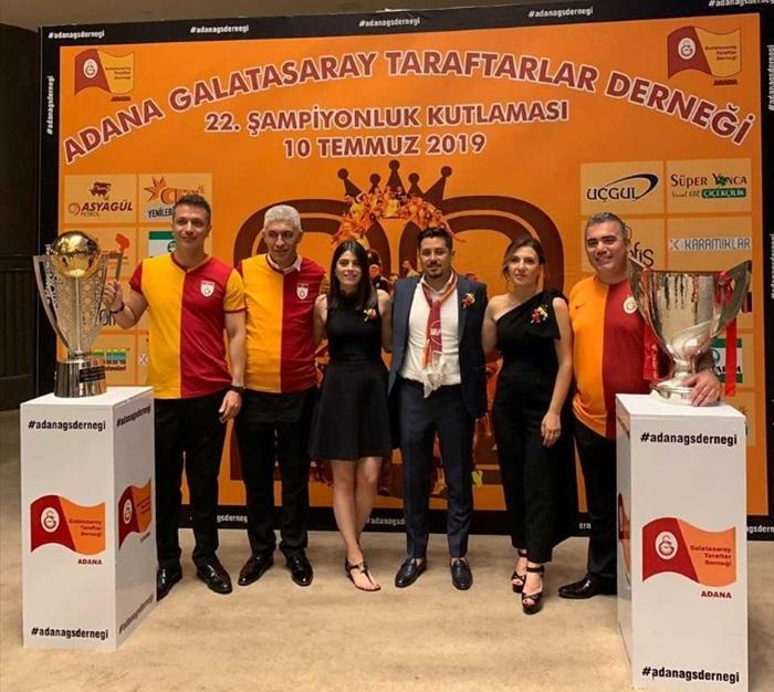 Galatasaray'ın şampiyonluğu Adana'da kutlandı