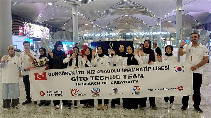 Güngörenli öğrenciler robot yarışmasında Türkiye'yi temsil edecek