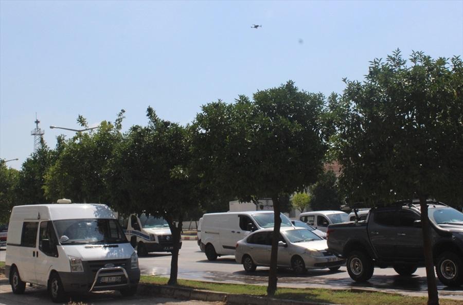 Trafik polislerinden drone ile denetim