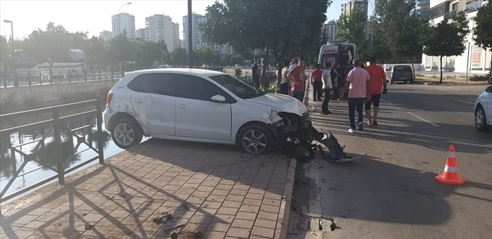 Adana'da trafik kazası: 1 yaralı