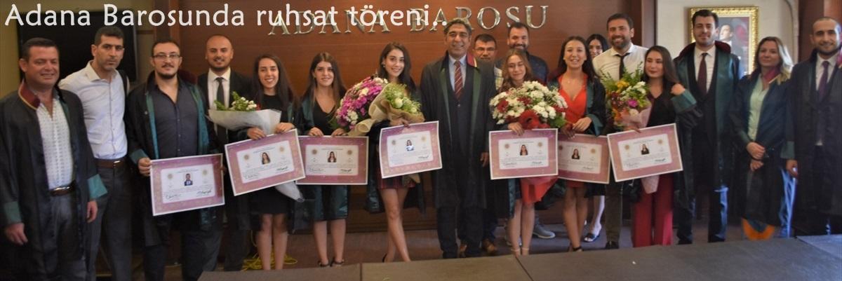 Adana Barosunda ruhsat töreni