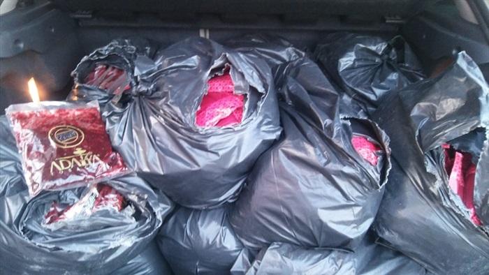 Adana'da 361 kilogram kaçak nargile tütünü ele geçirildi
