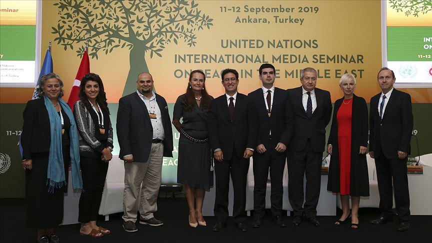 'Orta Doğu'da Barış Konulu Uluslararası Medya Semineri' sona erdi