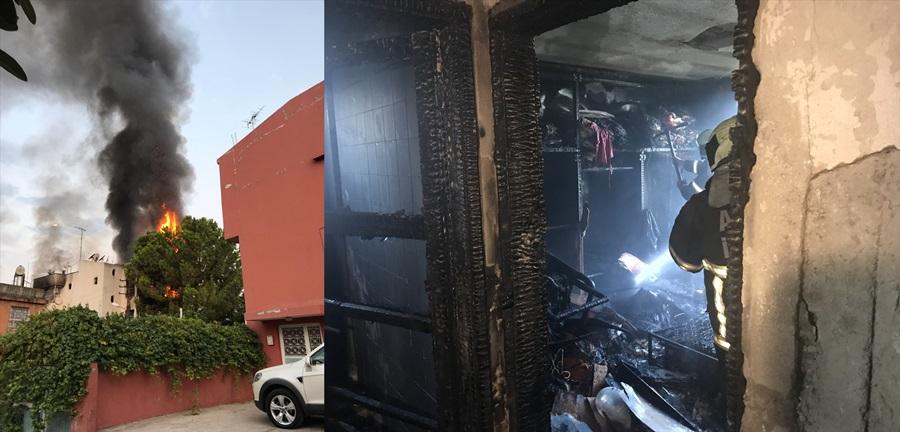 Adana'da 3 kişiyi öldüren zanlının evi kundaklandı