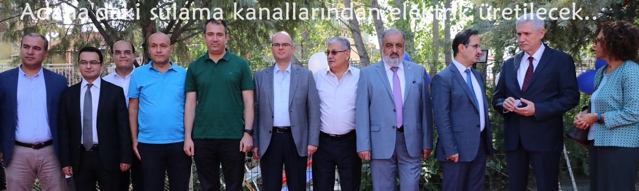 Adana'daki sulama kanallarından elektrik üretilecek