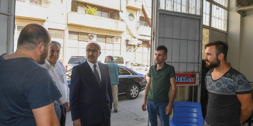 Vali Demirtaş'tan ATİKOP Toptancılar Sitesi'ne ziyaret..