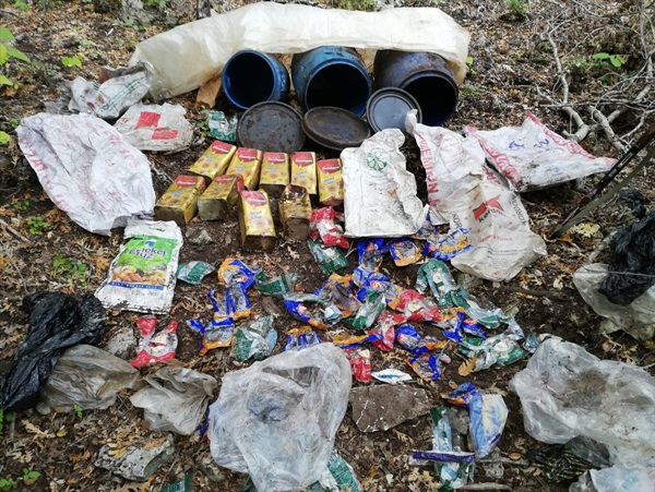 Osmaniye'de PKK'ya ait malzeme bulundu