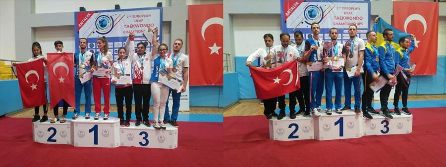İşitme Engelliler Avrupa Tekvando Şampiyonası sona erdi