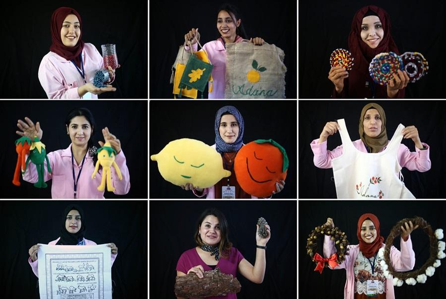 """Suriyeli ve Türk kadınlar """"Ekmek Kapısı""""nda istihdama katıldı"""