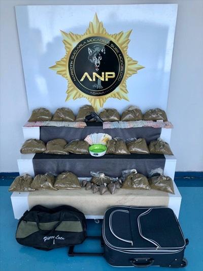 Adana'da 18 kilo 283 gram sentetik uyuşturucu ele geçirildi