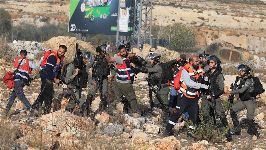 Batı Şeria'da 'Gazze'yle dayanışma yürüyüşü'ne müdahale