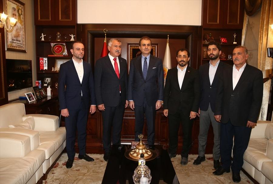 Ömer Çelik'ten Adana Büyükşehir Belediye Başkanı Karalar'a ziyaret