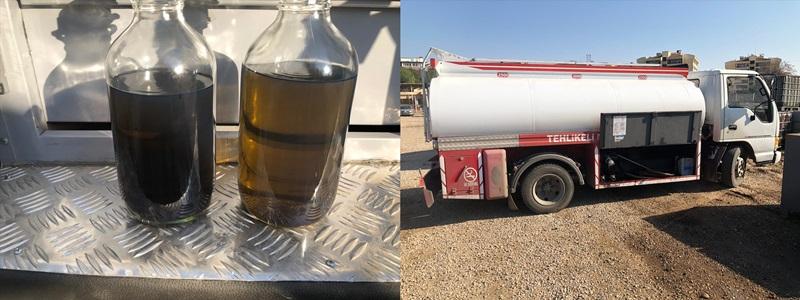 Adana'da kaçak akaryakıt taşıyan tankerde kullanılan yakıt da kaçak çıktı