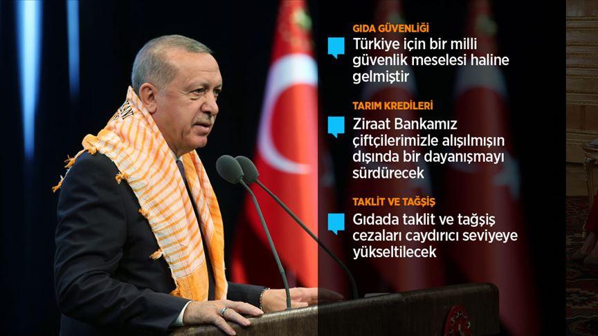 Erdoğan: Tarım arazilerinin bölünmesi sorununa kalıcı çözüm getireceğiz
