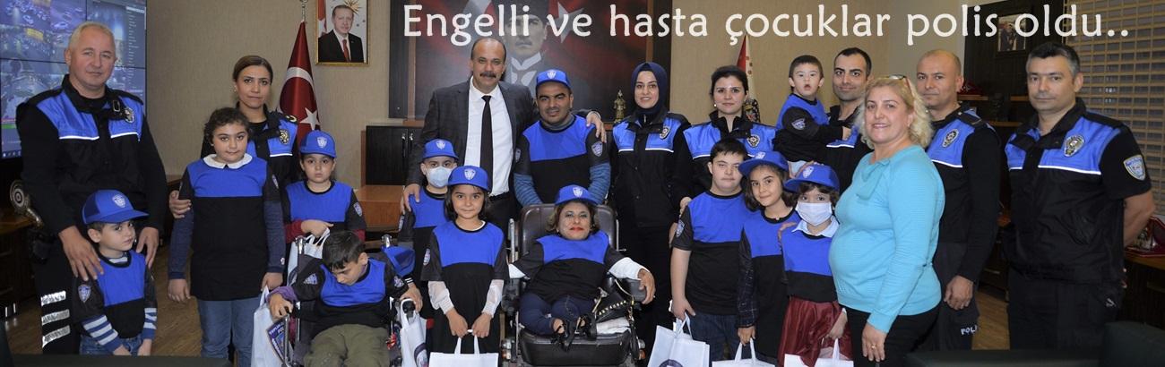 Engelli ve hasta çocuklar polis oldu